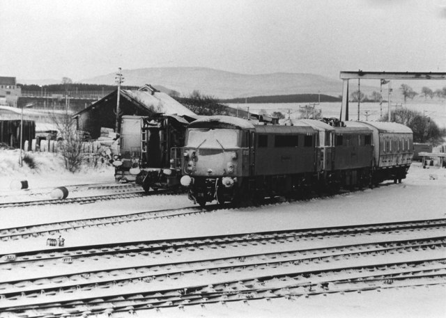 Snowed in at Carstairs Junction, 1984