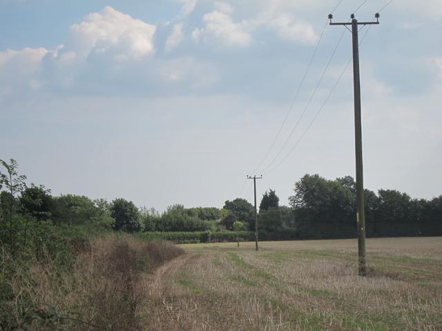 Stubble field by Bowl Road
