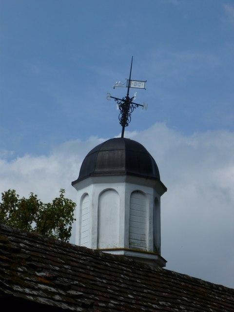 Weathervane on clocktower at Poynings