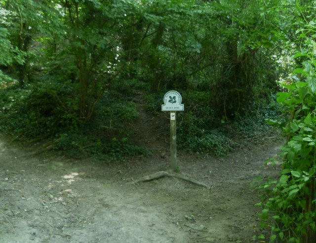 National Trust sign at path junction south of Poynings