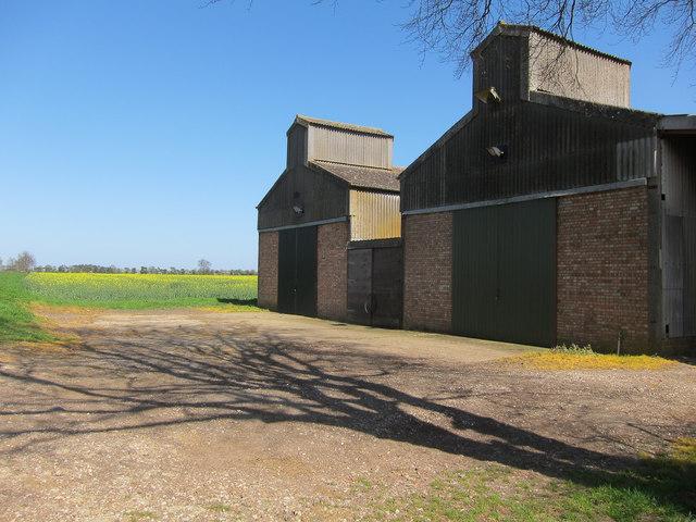 Barns by Balsham Lane