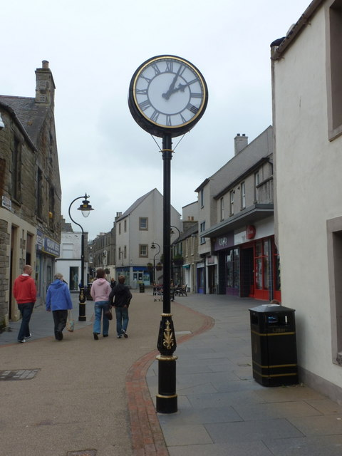 Thurso: clock in the High Street