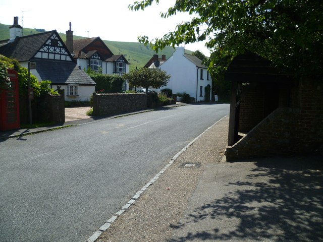 The main street in Fulking
