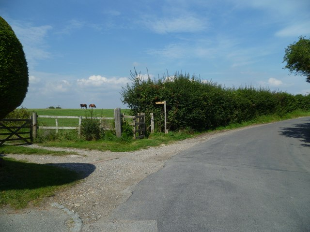 Footpath from Clappers Lane in Fulking