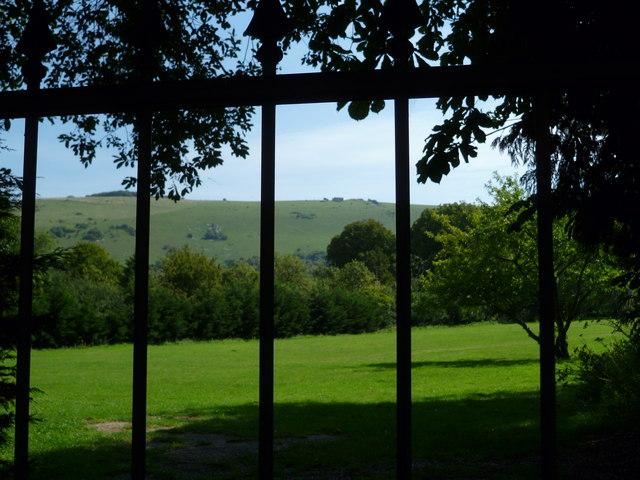 View through gates in Fulking