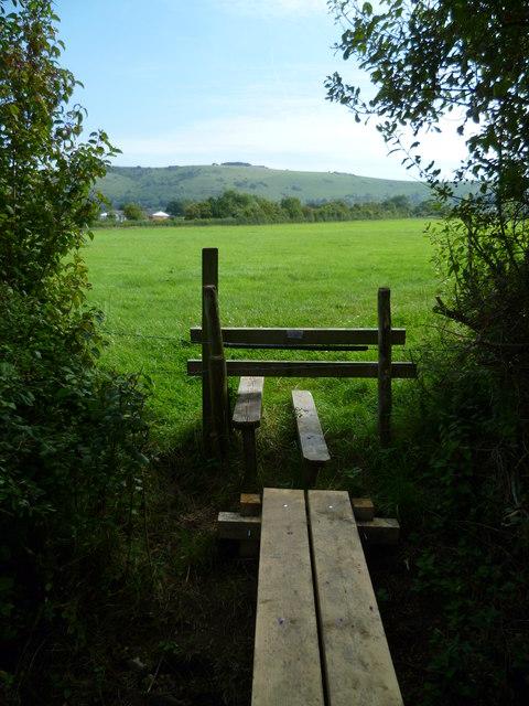 Footbridge north of Fulking