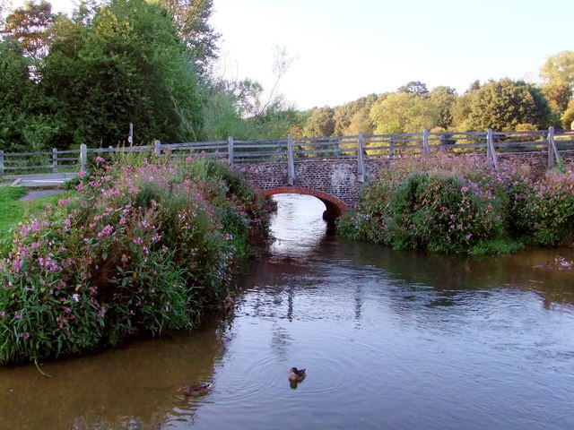 The Packhorse Bridge at Tilford, southern end