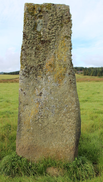 One of a pair of standing stones, Dunamuck (central)