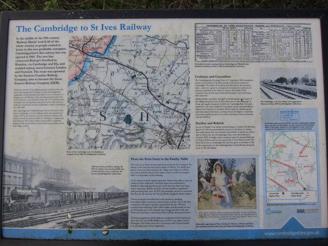 Railway history information board