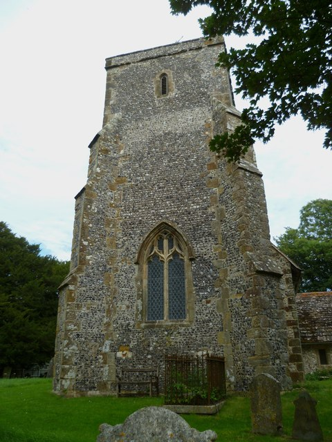The tower of Edburton church