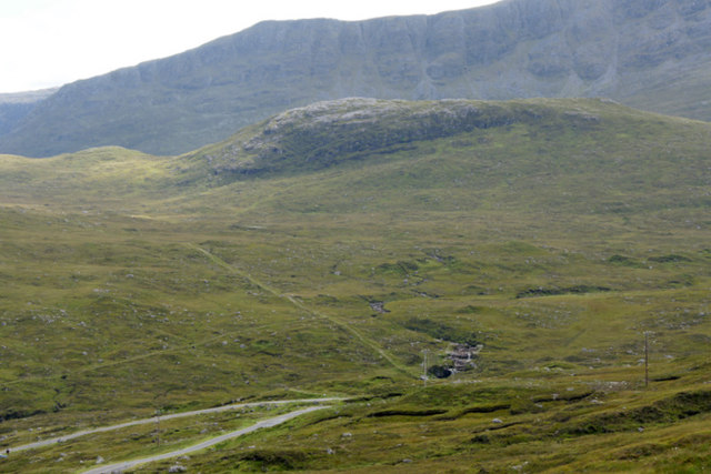 View south-east from above the head of Loch Mharaig