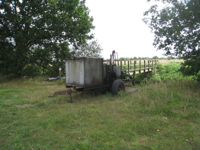 Irrigation pump and footbridge
