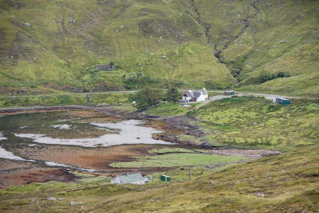 House at the head of Loch Mharaig