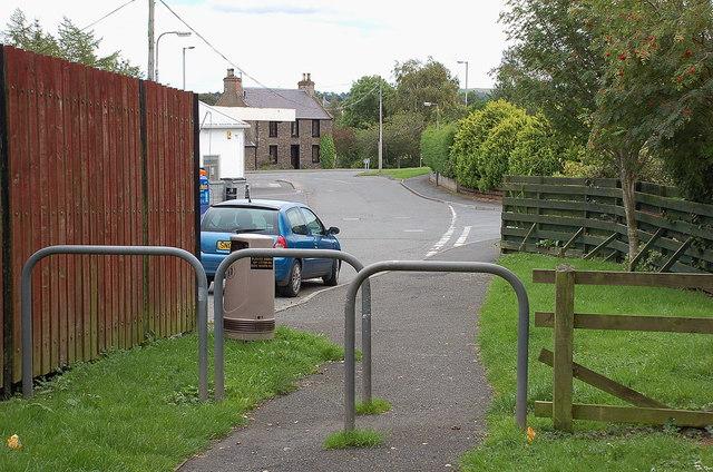 Lane behind Lauder Industrial Estate