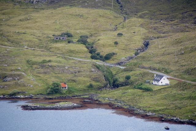 Eilean Anabaich beside Loch Mharaig