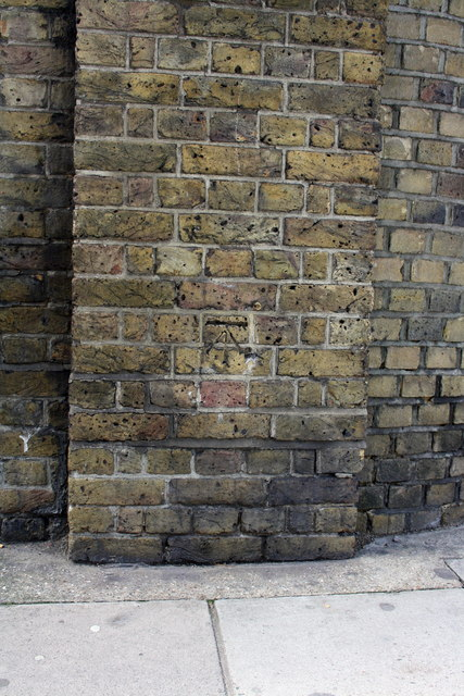 Benchmark on wall pier at north corner of Lord's Cricket Ground