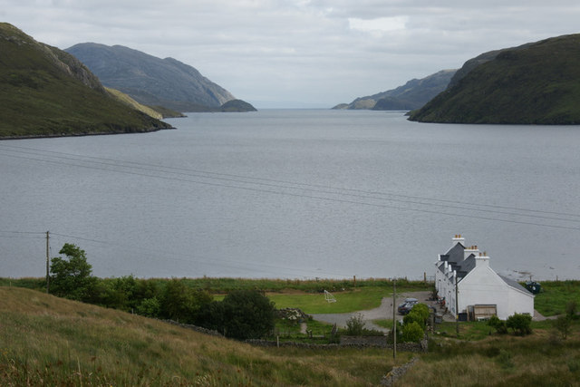 View down Loch Seaforth (Loch Siophort) from Mulhagery