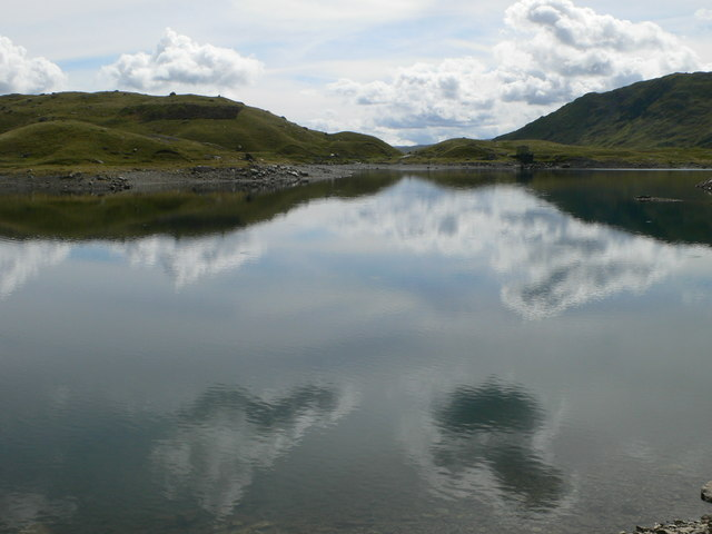 View south over Llyn Llydaw from the Miner's Track