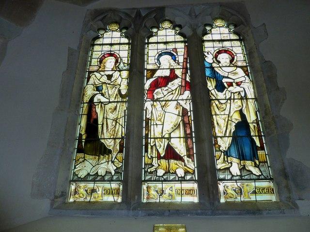 St Andrew, South Warnborough: west window