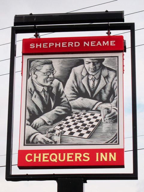 Chequers Inn sign