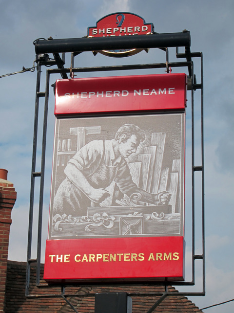 The Carpenters Arms sign