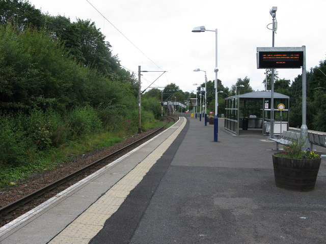 Burnside railway station, looking West