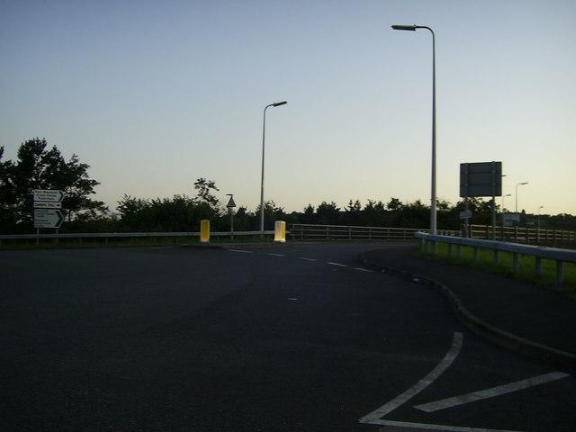 Road bridge between roundabouts, Cross Hands