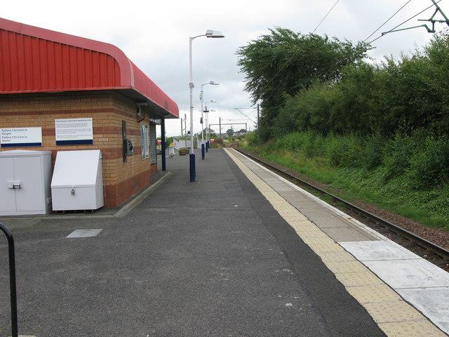 Burnside railway station, looking East