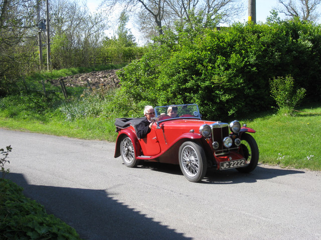 MG rally passing through Horndean village