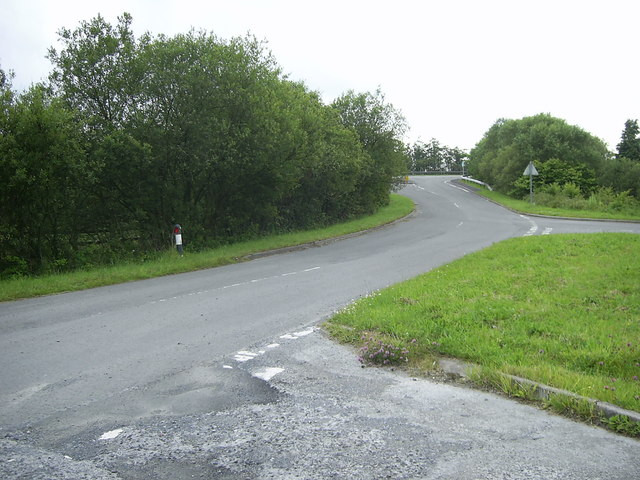 Minor road junction near A48