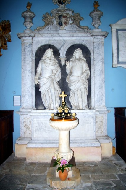 Parker monument in All Saints' Church, Honington