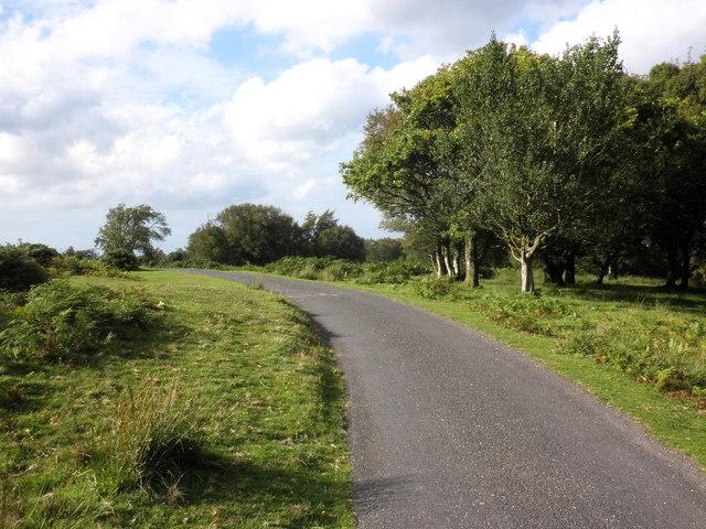 Minor road to Stoke Pero