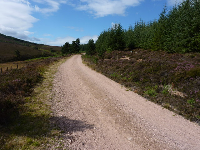Track on the way to Melmannnoch Hill