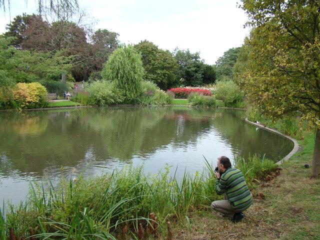 Lake near the flower garden #2