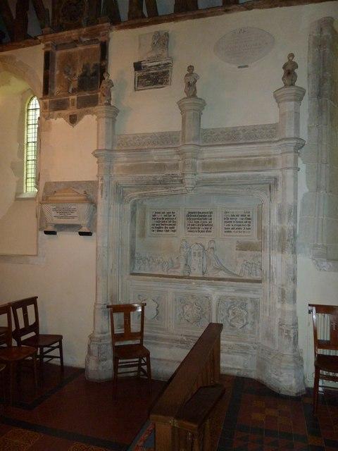 St Andrew, South Warnborough: impressive memorial