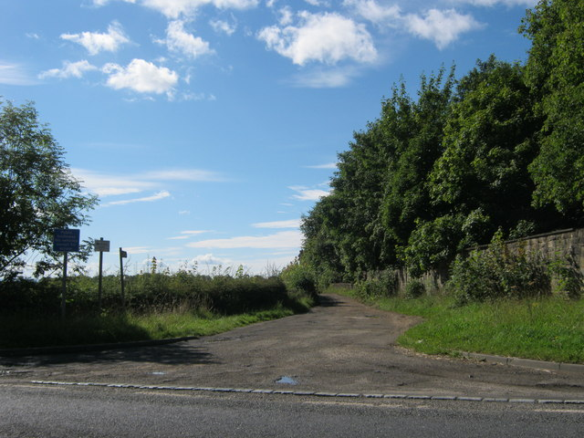 Bridleway alongside the eastern boundary of Windlestone Hall
