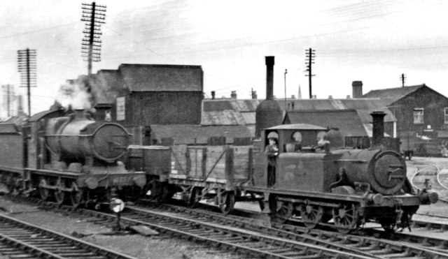 A very curious locomotive shunting at Taunton