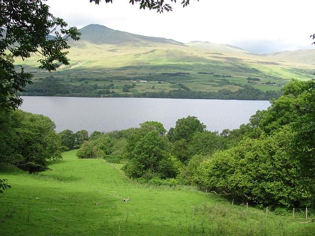 Loch Tay and farmland