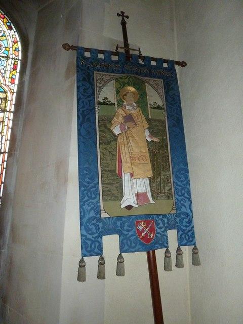 St Lawrence, Weston Patrick: banner (1)