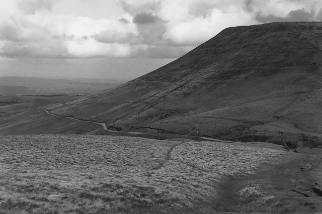 Looking across Gospel Pass from the path up Twmpa