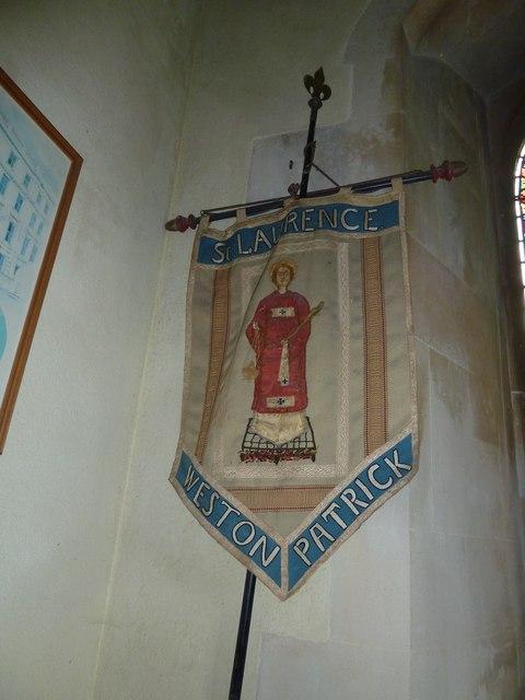 St Lawrence, Weston Patrick: banner (2)