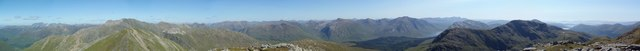 Panorama from the summit of Sgor na h-Ulaidh