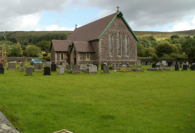 St John the Baptist church, Callwen, Glyntawe