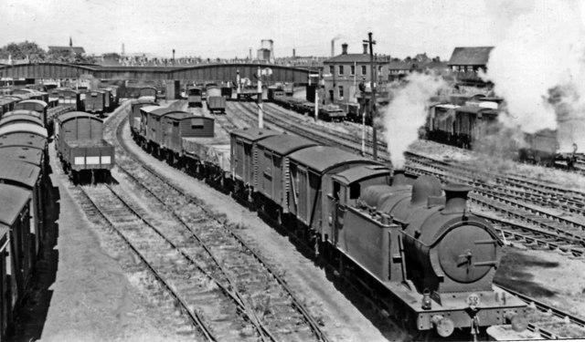 Goods train for Roath Docks on Cardiff & Rhymney line, with 0-6-0T