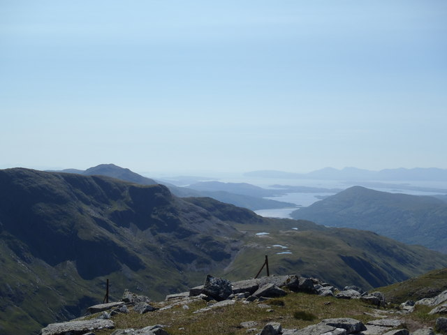 Sea Lochs from the summit of Sgor na h-Ulaidh