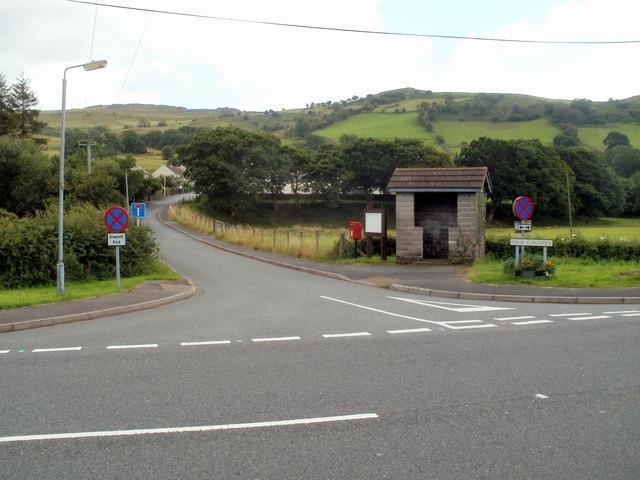 Corner of Heol Callwen and the A4067, Glyntawe