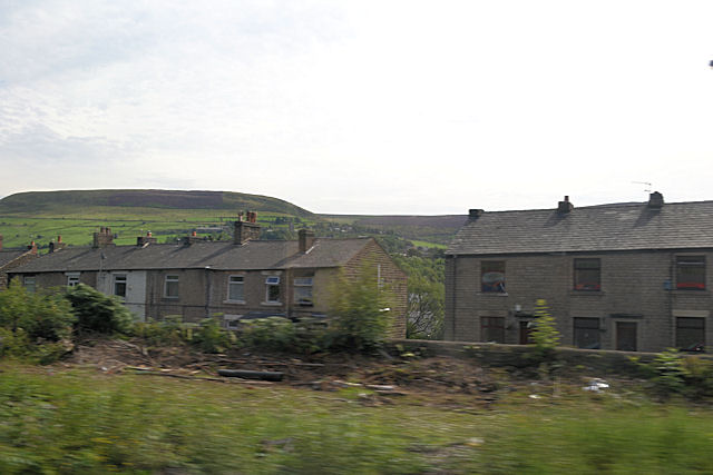 Housing in Manchester road north of station