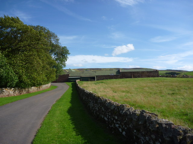 Rural East Lothian : Approaching The Farm At Deuchrie