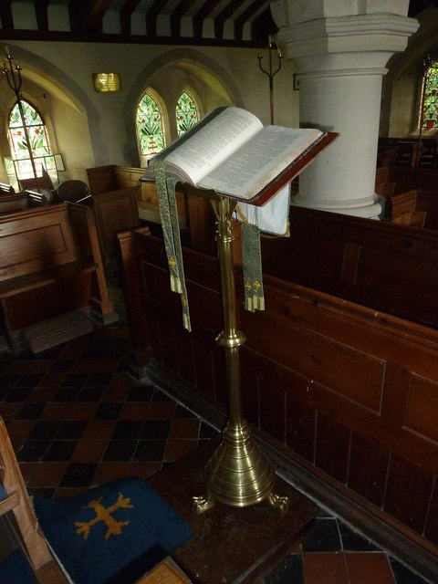 St Lawrence, Weston Patrick: lectern