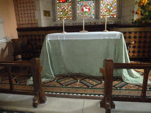 St Lawrence, Weston Patrick: altar